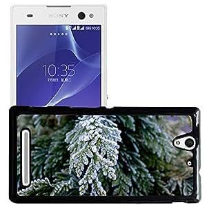 Print Motif Coque de protection Case Cover // M00157024 Ramita invierno temporada de fondo // Sony Xperia C3 D2533/ C3 Dual D2502