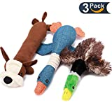 Duck Dog Toy, Dog Stuffed Toys for Aggressive Chewers Dog Hunting Toys with Classic Mallard Duck Style Durable Plush Squeaky Dog Toys Tough Dog Chew Toys for Small Medium Dogs 3 Value Pack