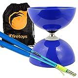 yo yo starter kit - Blue Big Top - Jumbo Bearing Diabolos Set, Blue Superglass Diablo Sticks, Diabolo string & Bag!