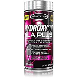 Hydroxycut CLA Plus, Non Stimulant Weight Loss For Women, CLA Designed For Active Females, 60 Count