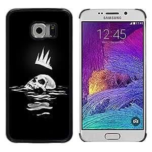Cubierta protectora del caso de Shell Plástico || Samsung Galaxy S6 EDGE SM-G925 || Skull Crown Man Art King Sea Ocean Death Dark @XPTECH
