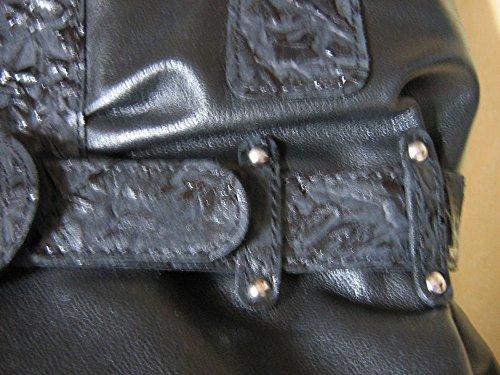 Borsa a mano in pelle, colore: nero