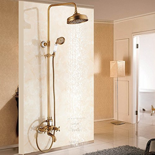 F Hlluya Professional Sink Mixer Tap Kitchen Faucet The copper bathroom hot and cold shower faucet wall mounted showers taps,
