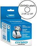 thermal dvd printer - DYMO 30854 LabelWrite White CD/DVD Media Labels For use with LabelWrite 450, LabelWriter 4XL and Desktop Mailing Solution Label Printers, Label Measures 2 1/4