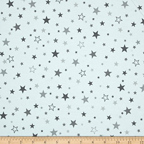 Robert Kaufman Cozy Cotton Flannel Stars Fabric, Pepper, Fabric by the yard