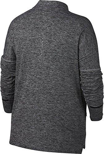 NIKE Women's Plus Size Sphere Element ½ Zip Running Shirt(Black/HTR, 2X) by NIKE (Image #2)