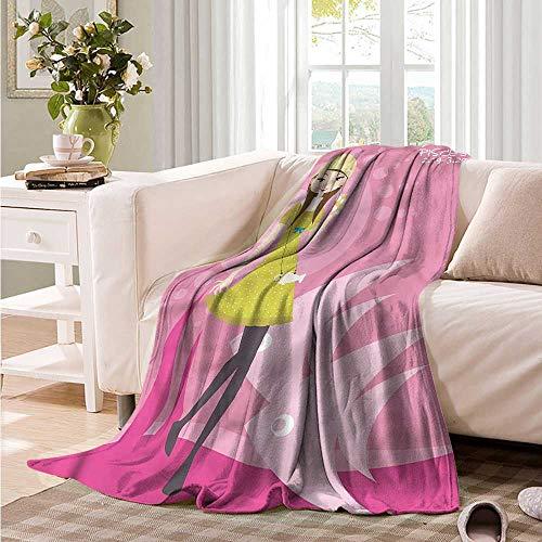 Oncegod Soft Warm Coral Fleece Blanket Zodiac Pisces Girl in a Dress Drink Bedding Throw, or Blanket Sheet 93