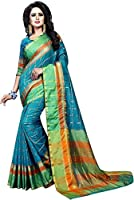 Vatsla Enterprise Women's Cotton Saree With Blouse Piece(VPYSMULTISAREE_MULTI_COLOUR)