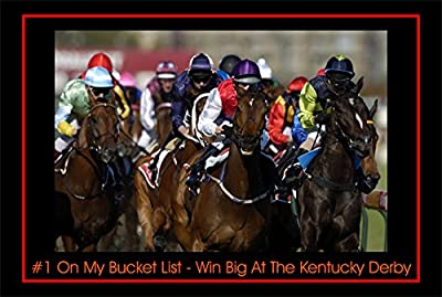 8 1/2 x 12 Inch Tin Sign Inch Tin Sign # Number One 1 On My Bucket List Win Big At The Kentucky Derby