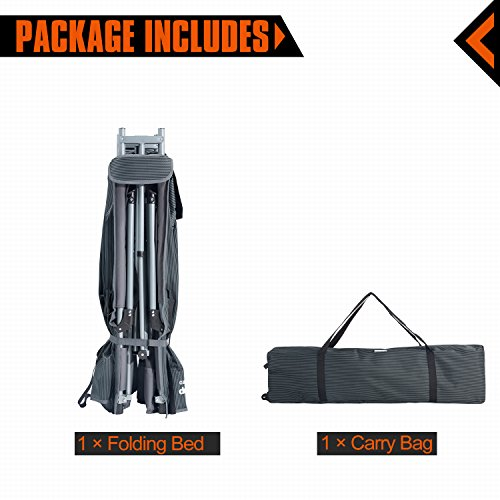 KingCamp Camping Cot Double 2 Person Oversized Anodized Steel Frame Portable Folding Bed Portable with Wheeled Carry Bag by KingCamp (Image #6)