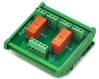 electronics salon din rail mount passive bistable  latching 2 dpdt 8a power relay module  5v ver Bistable Relay Circuit Bistable Relay Circuit