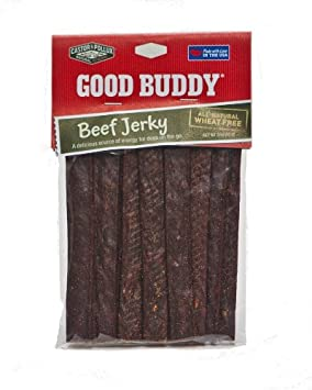 Good Buddy Natural Beef Jerky Dog Treats, 3-Ounce Packages, 60 Count