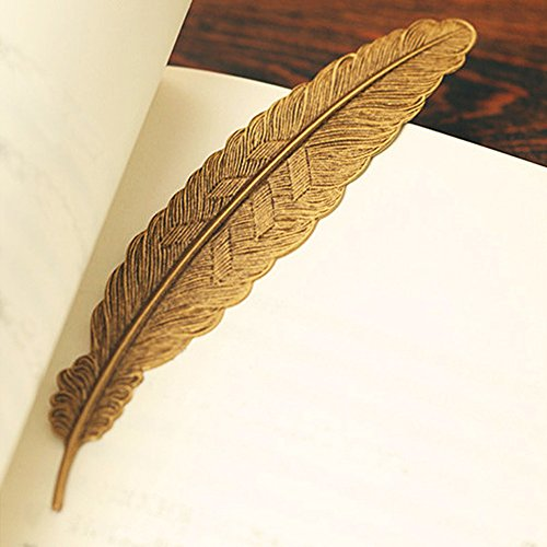 EKLOEN 6pcs Different Color Vintage Feather Metal Bookmarks Book Marker for School Supplies Stationery Gift by EKLOEN (Image #1)
