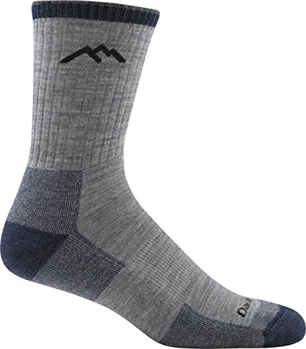 Darn Tough Hiker Micro Crew Cushion Socks - Men's Light Gray Medium