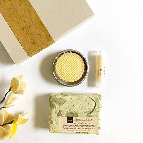 Kaya Citrus Mini Gift Set | 100% Natural Handmade | Bath and Body Gift Set | Bridesmaid gift | Birthday gift | Welcome kit | Gift for Everyone | Thanksgiving gift | Christmas Gift
