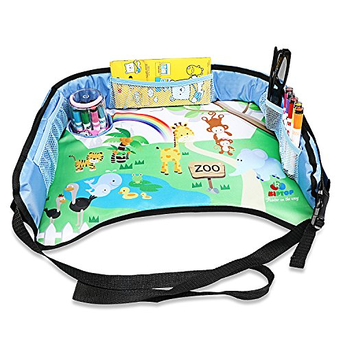 KIPTOP Car Seat Travel Tray,Kids Play & Learn Tray for Snack