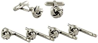 product image for David Donahue Men's Brass Small Knot Cufflinks Stud Set (SS812000)