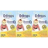 Ddrops 婴儿 400 IU,90 滴 2.5 毫升 - 90 滴(3 件装)