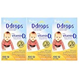 Ddrops Baby WNxNX 400 IU, 90 drops 2.5mL - 90 Drops (3 Pack) qenRe