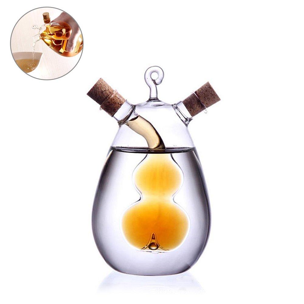 Botellas de Aceite de oliva, Tie langxian cocina 2 en 1 botella de cristal dispensador de aceite vinagre botella, de cristal transparente - de acción de ...