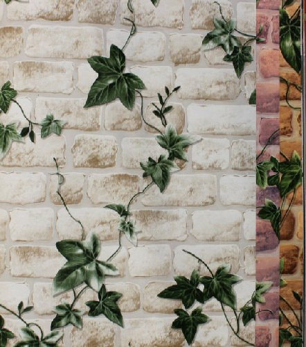 Boston Ivy 3D Brick Wallpapers Roll Stone Wall Paper Vinyl Vintage Wallpaper for Walls papel de parede para 3D Stone Wallpapers,38902,5.3?