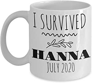 I Survived Hanna July 2020 Storm Texas Hurricane Mug Coffee Tea Cup 11 or 15 oz