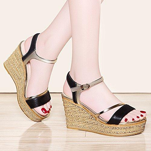 de sandalias mujer damas black sandalias Zapatos verano sandalias UE de RUGAI de sandalias sandalias ItaPnfq
