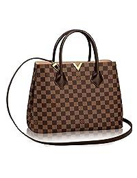 Authentic Louis Vuitton Damier Kensington Shoulder Handbag Article: N41435 Made in France