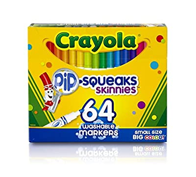 Crayola 64 Ct Washable Markers, (58-8764) | Learning Toys