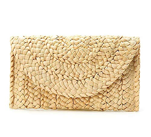 Women Straw Clutch Handbag ,Straw Purse Beach Bag Envelope ()