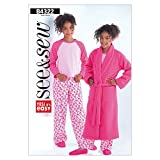 BUTTERICK PATTERNS B4322 Girls' Robe, Top and