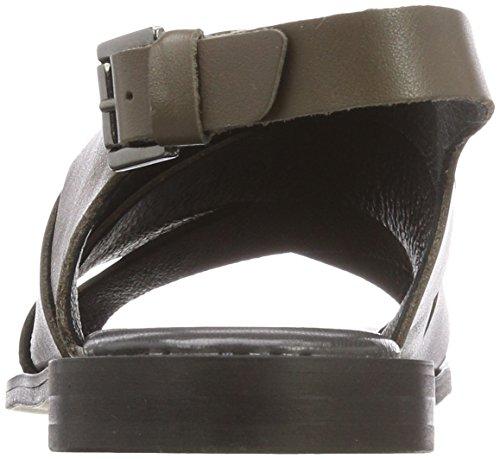 Shoe Biz Women's Hester Ankle Strap Sandals Green (Nausica Olive Naol) 6NlKGwfE