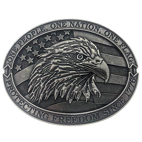 Exos Patriotic American Mens Western Eagle Belt ()