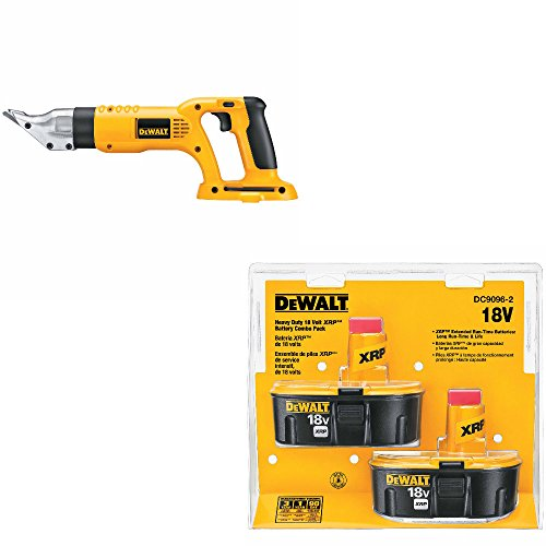 DeWalt DC490B 18V CL Swivel Head Shear & DeWalt DC9096-2 18V XRP Battery Pack