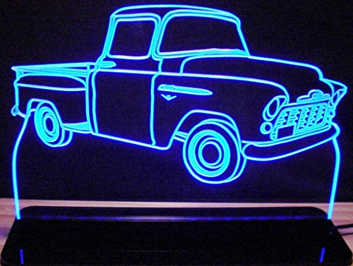 ValleyDesignsND 1956 Chevy Pickup Truck Acrylic Lighted Edge Lit 12