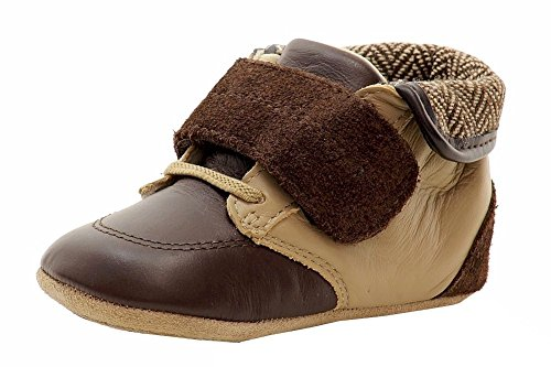 Robeez Harrison Mini Shoe (Infant), Brown, 6-9 Months M US Infant