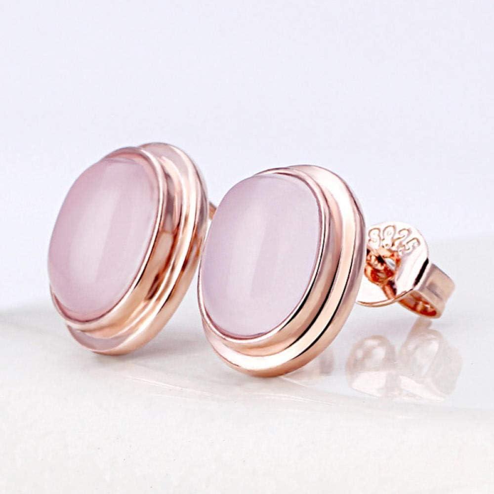 Erin Earring Pendientes Redondos De Moda De Piedras Preciosas De Ópalo Rosa Natural para Mujer Pendientes Antialérgicos