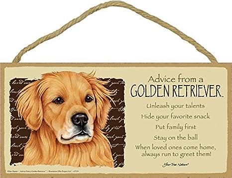 Golden Retriever  2 Line Wall Address PlaqueSign