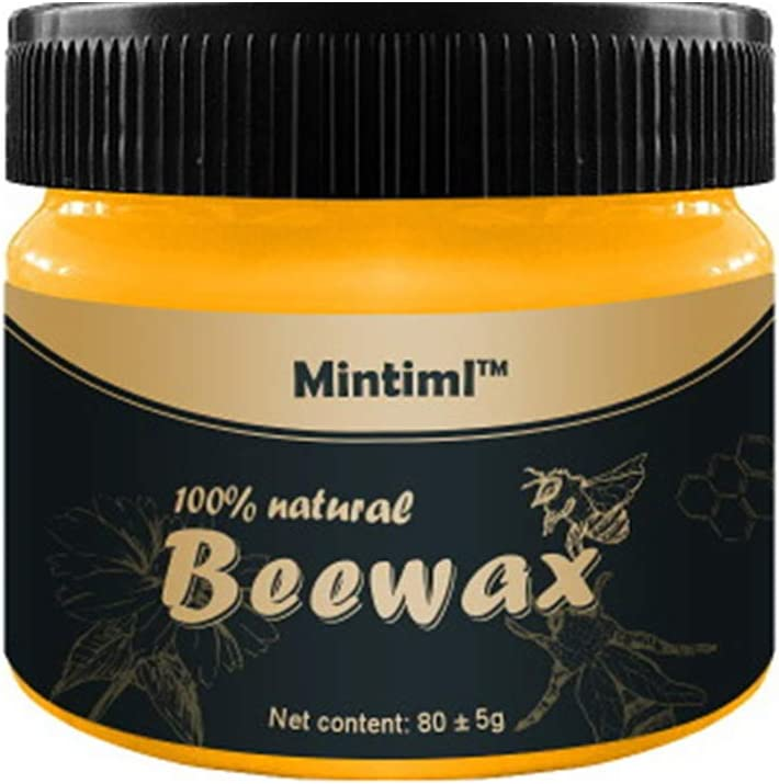 Wood Seasoning Beewax,Beewax Polish for Wood & Furniture,Metal & Leather,Complete Solution Furniture Care Home Cleaning,Protect and Enhance The Shine