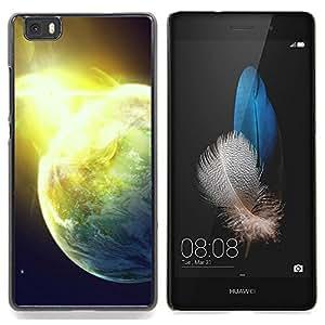 """Qstar Arte & diseño plástico duro Fundas Cover Cubre Hard Case Cover para Huawei Ascend P8 Lite (Not for Normal P8) (Sun Star Cosmos Space Explosion Planetas Arte"""")"""