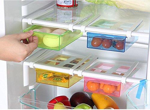 Multiuso da cucina in plastica frigorifero Fridge rack di stoccaggio congelatore mensola del cassetto scorrevole da cucina salvaspazio organizzazione (pezzi) Winko-UK