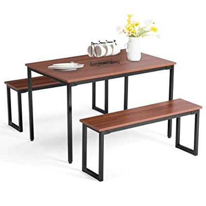 Admirable Artist Hand Kitchen Dining Table Set Kitchen Dining Table With Chairs Bench Brown Alphanode Cool Chair Designs And Ideas Alphanodeonline