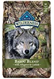 Blue Buffalo Wilderness Bayou Blend High Protein Grain Free, Natural Dry Dog Food with Alligator & Catfish 22-lb For Sale