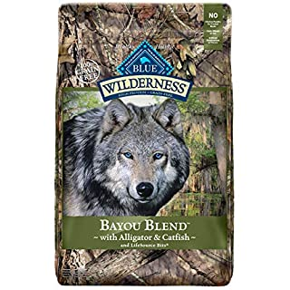 Blue Buffalo Wilderness Bayou Blend High Protein Grain Free, Natural Dry Dog Food with Alligator & Catfish 22-lb