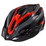 Urparcel Cycling Bicycle Adult Bike Safe Helmet Carbon Hat With Visor 19 Holes Red