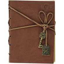 Journal Diary Key Retro Vintage Classic Leather Bound Notebook (BC-11551)