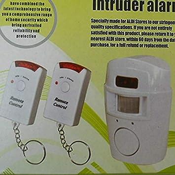 Alarma inal/ámbrica con sensor de movimiento f/ácil de instalar detector de movimiento antirrobo cobertizo para el hogar,autocaravana seguridad LNIMIKIY sistema de alarma inal/ámbrico