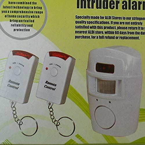 Sistema de Alarma por Infrarrojos, Control Remoto, Detector de Movimiento PIR inalámbrico, antirrobo, alarmas antirrobo, 105 dB, Ideal para la Seguridad de ...