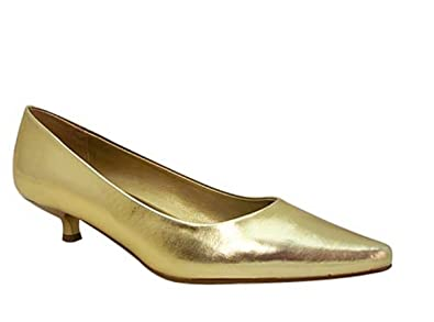 Nasco Womens Shoes Slip On Point Toe Low Heel Pumps