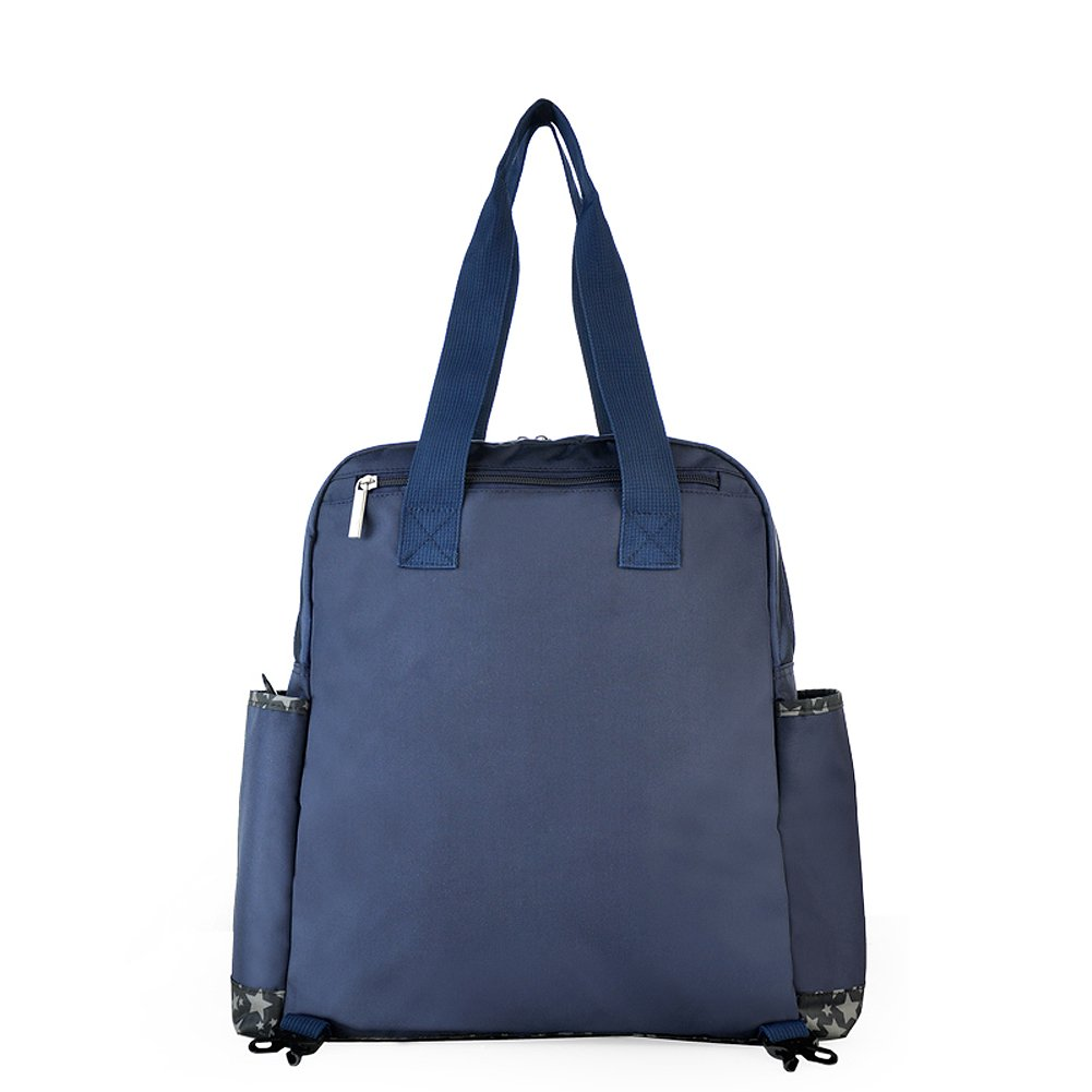 870cbc366240 Amazon.com   Zacoro 4 Pieces Set Diaper Bag Baby Backpack Diaper Bag Tote  Bag Mom Bag Large Capacity(navy)   Baby